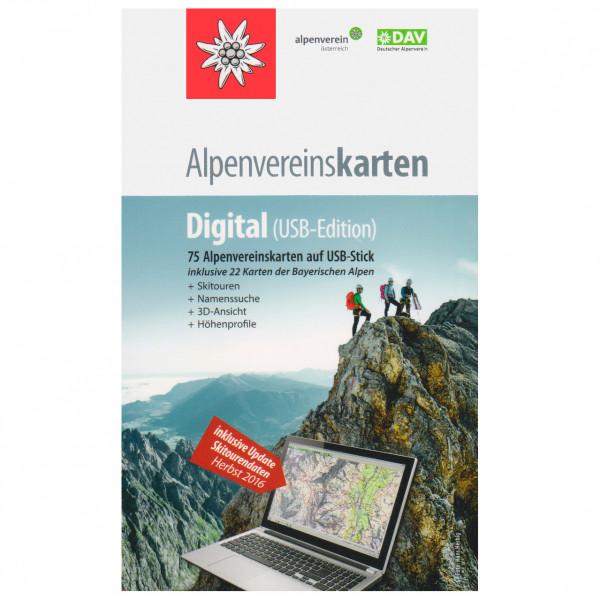 DAV - AV-Karten digital USB-Edition - Wandelkaarten