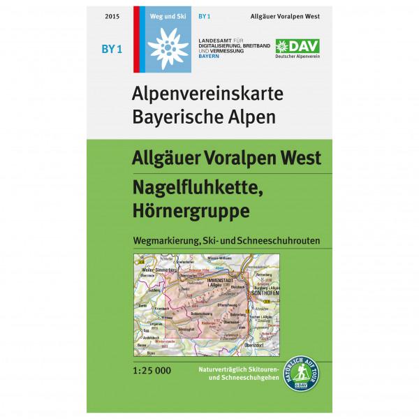 DAV - BY 1 Allgäuer Voralpen West - Mapa de senderos