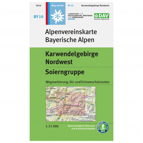 DAV - BY 10 Karwendel NW - Mapa de senderos
