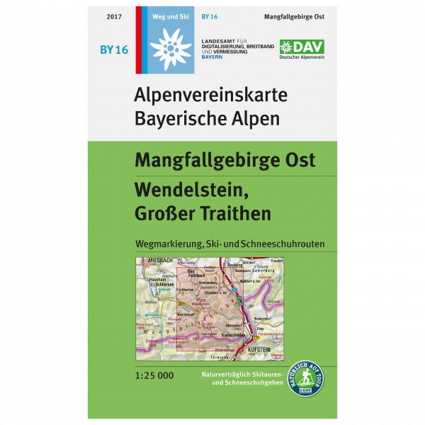 DAV - BY 16 Mangfallgeb. Ost - Hiking map
