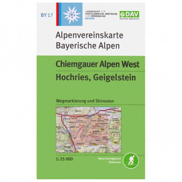 DAV - BY 17 Chiemgauer West - Wandelkaarten