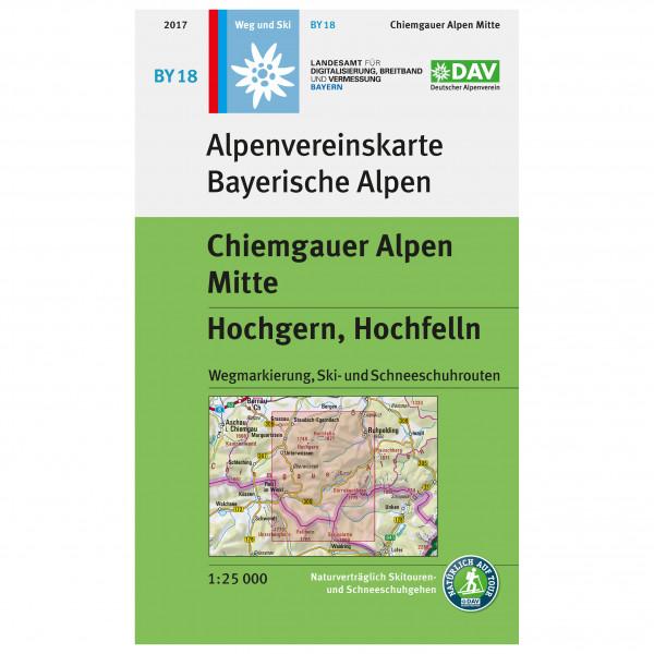 DAV - BY 18 Chiemgauer Mitte - Wandelkaart