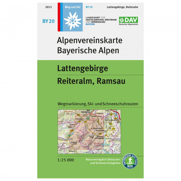 DAV - BY 20 Lattengebirge-Reiteralm - Vandrekort