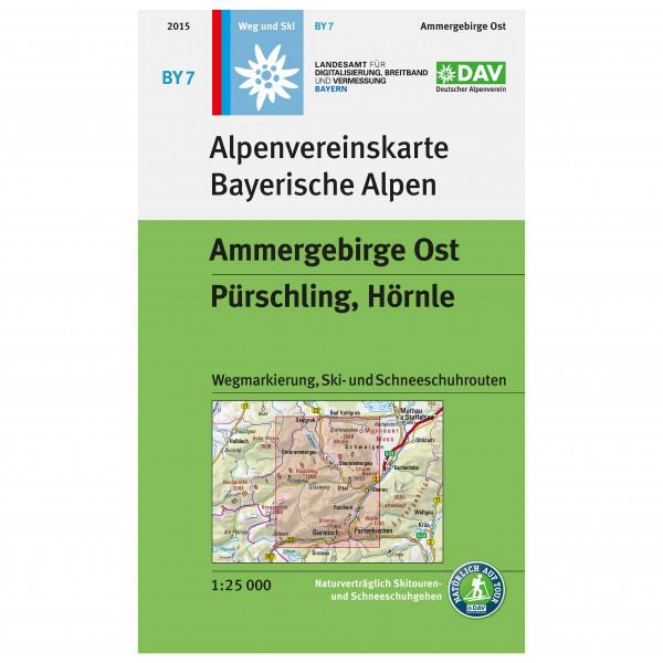 DAV - BY 7 Ammergebirge Ost - Mapa de senderos