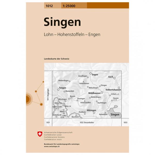 Swisstopo - 1012 Singen - Vandrekort