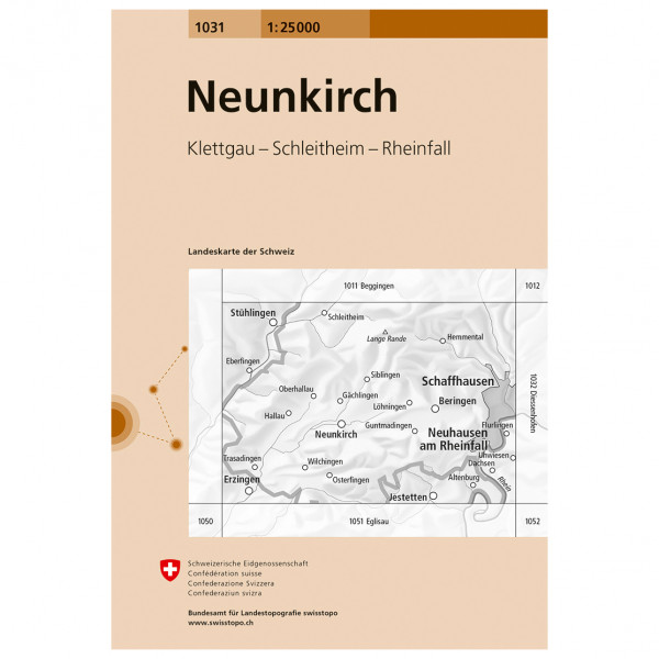 Swisstopo - 1031 Neunkirch - Vandringskartor