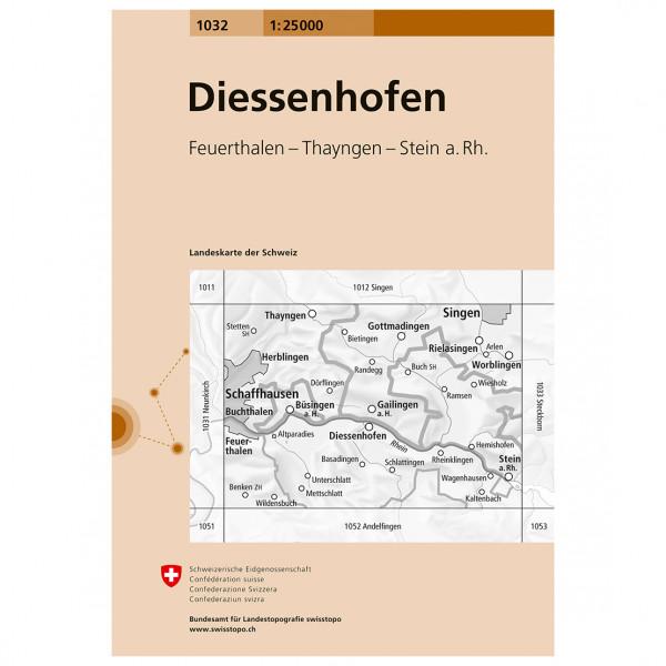 Swisstopo - 1032 Diessenhofen - Hiking map