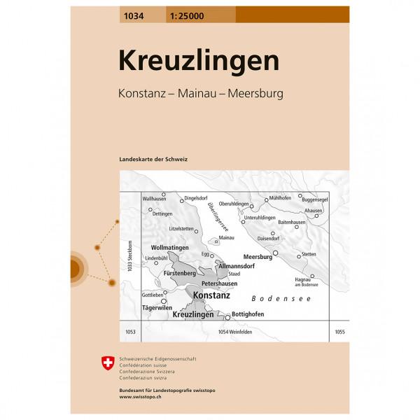 Swisstopo - 1034 Kreuzlingen - Vandrekort