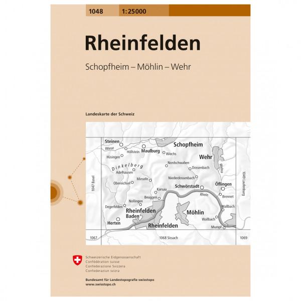Swisstopo - 1048 Rheinfelden - Wandelkaarten