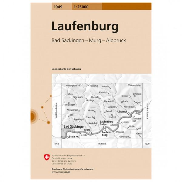 Swisstopo - 1049 Laufenburg - Vandrekort