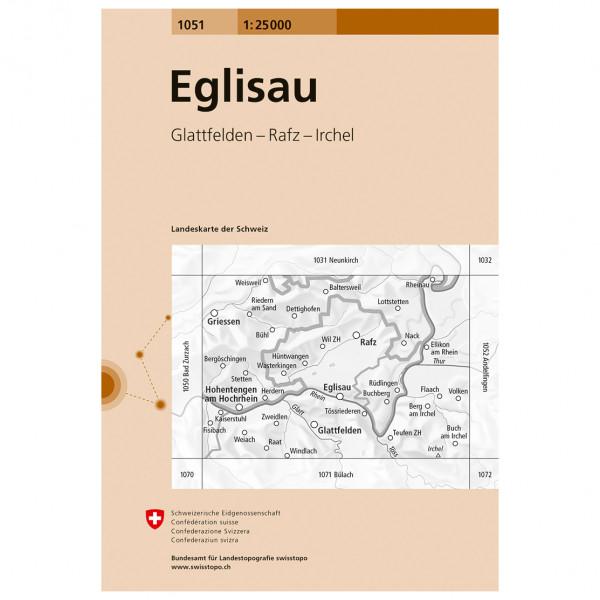 Swisstopo - 1051 Eglisau - Hiking map