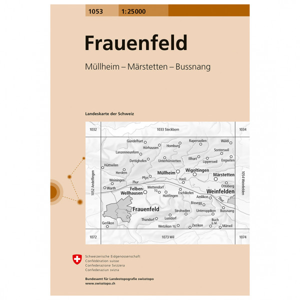 Swisstopo - 1053 Frauenfeld - Vandringskartor