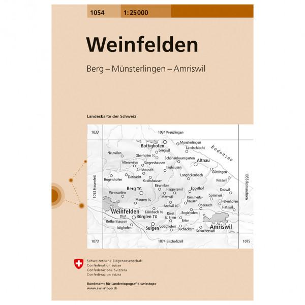 Swisstopo - 1054 Weinfelden - Vandringskartor