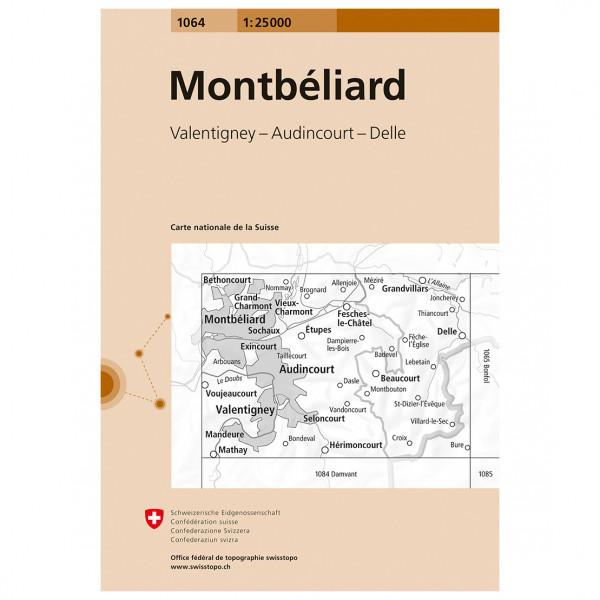 Swisstopo -  1064 Montbéliard - Vaelluskartat