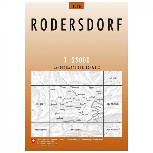 Swisstopo -  1066 Rodersdorf - Vandringskartor
