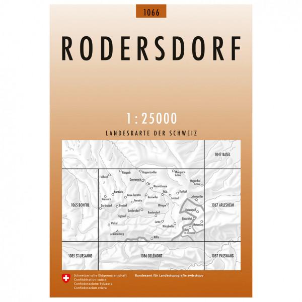 Swisstopo -  1066 Rodersdorf - Wandelkaart