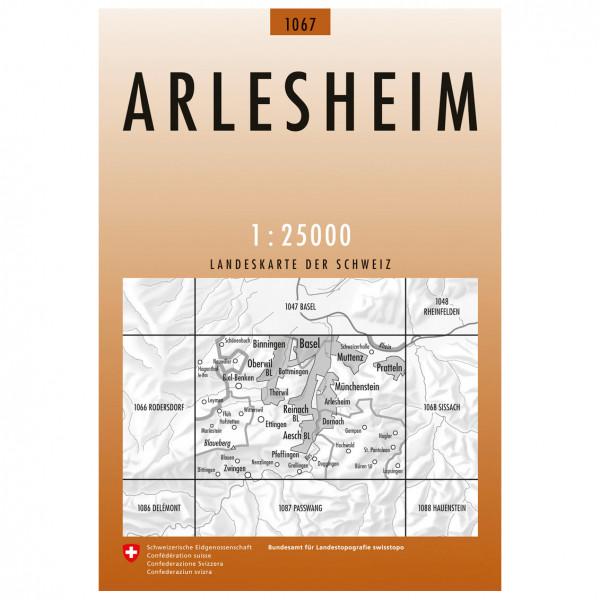 Swisstopo -  1067 Arlesheim - Vaelluskartat