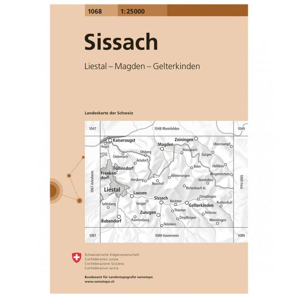 Swisstopo -  1068 Sissach - Turkart