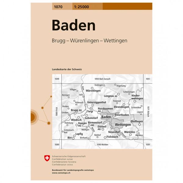 Swisstopo -  1070 Baden - Wandelkaart