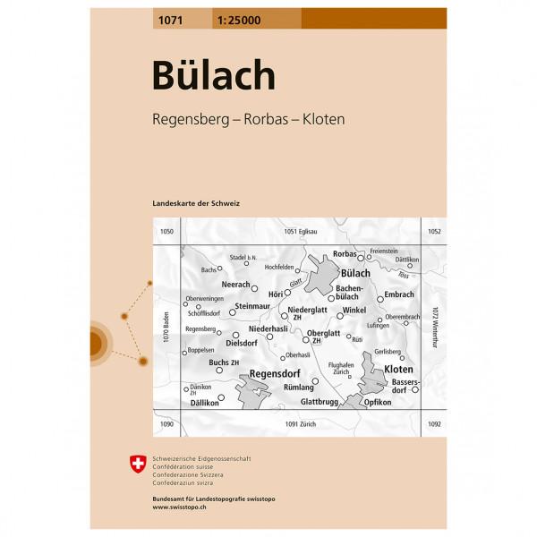 Swisstopo - 1071 Bülach - Hiking map
