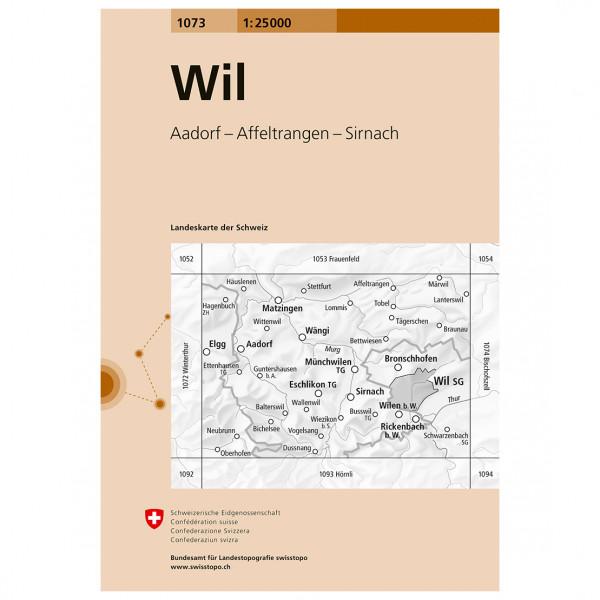Swisstopo -  1073 Wil - Vaelluskartat