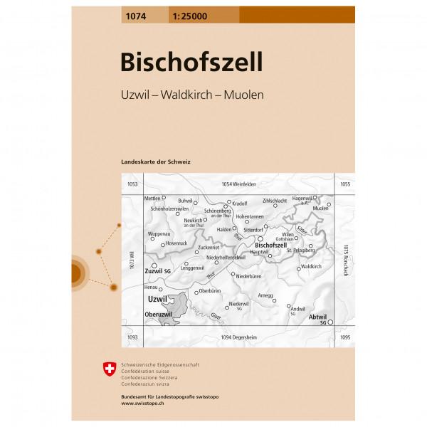Swisstopo -  1074 Bischofszell - Vandringskartor