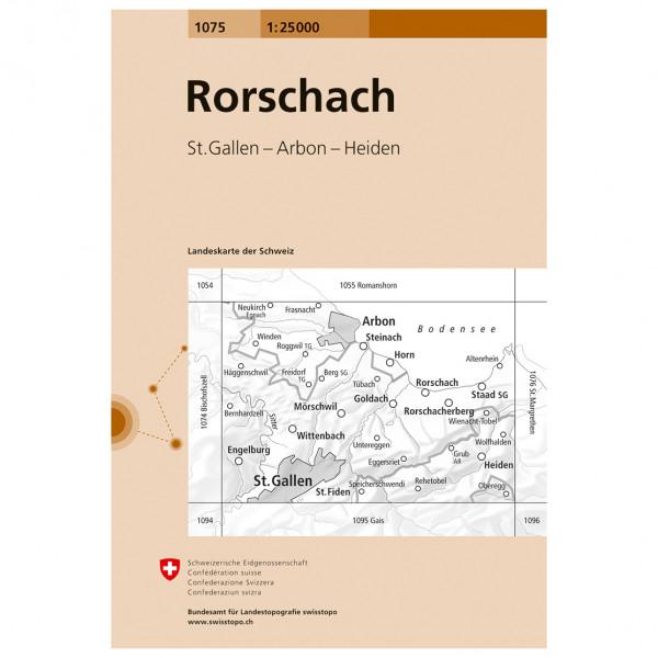 Swisstopo - 1075 Rorschach - Wanderkarte