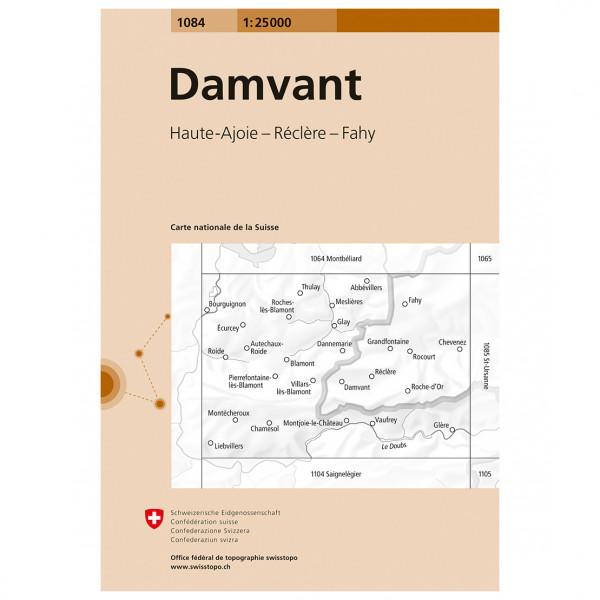 Swisstopo -  1084 Damvant - Wanderkarte