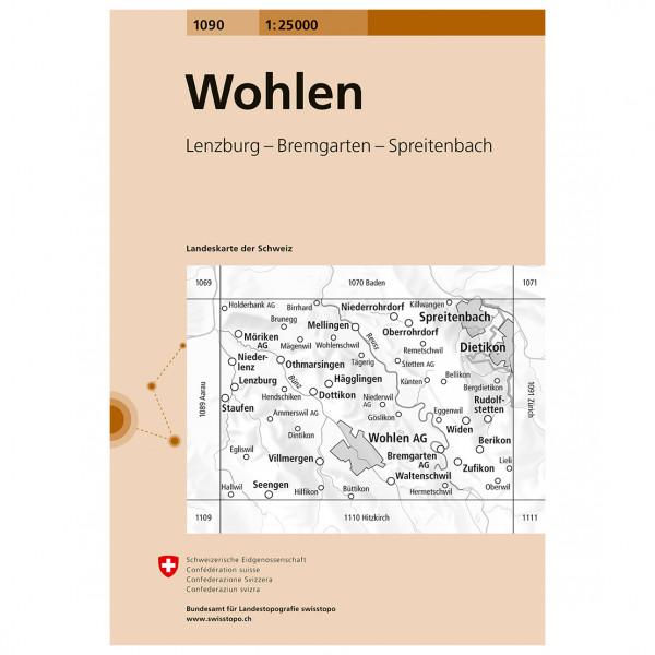 Swisstopo -  1090 Wohlen - Vaelluskartat