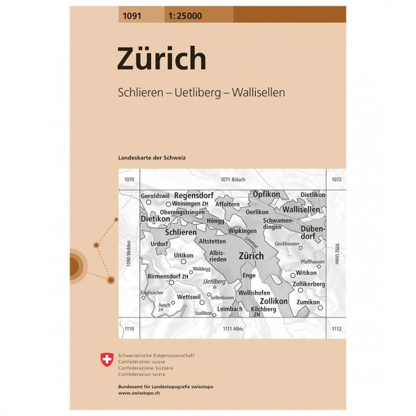 Swisstopo -  1091 Zürich - Vandringskartor
