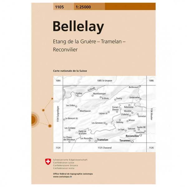Swisstopo -  1105 Bellelay - Wandelkaart