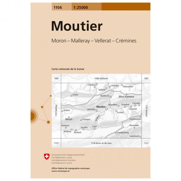 Swisstopo -  1106 Moutier - Vandringskartor