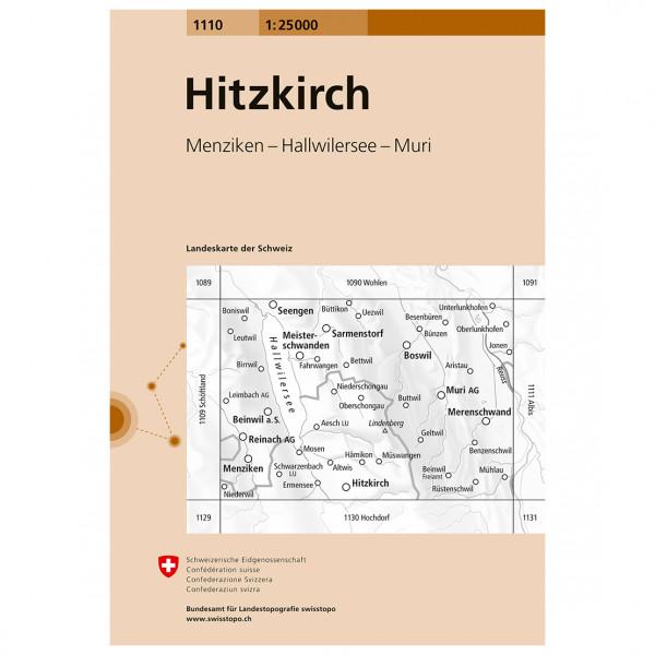 Swisstopo -  1110 Hitzkirch - Vandrekort