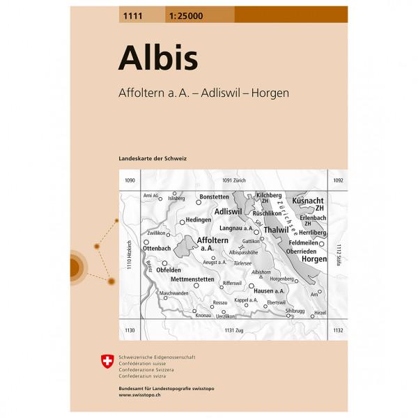 Swisstopo -  1111 Albis - Vandringskartor