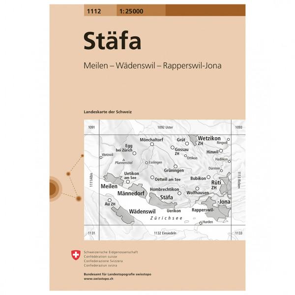Swisstopo -  1112 Stäfa - Hiking map