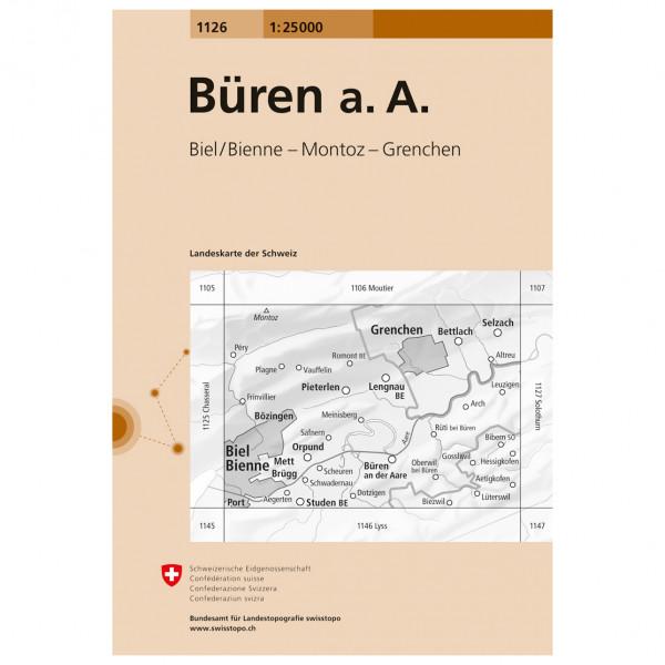 Swisstopo -  1126 Bueren a.A. - Vandringskartor