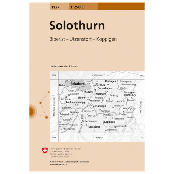 Swisstopo -  1127 Solothurn - Hiking map