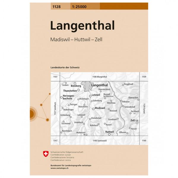 Swisstopo -  1128 Langenthal - Wandelkaarten