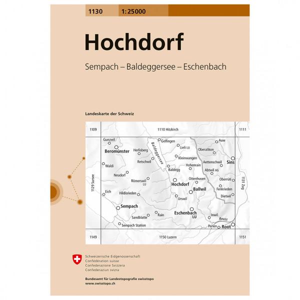 Swisstopo - 1130 Hochdorf - Vandrekort