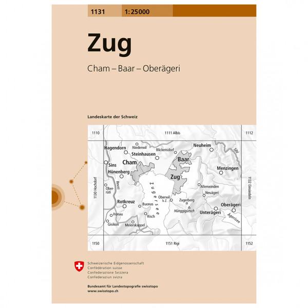 Swisstopo -  1131 Zug - Hiking map
