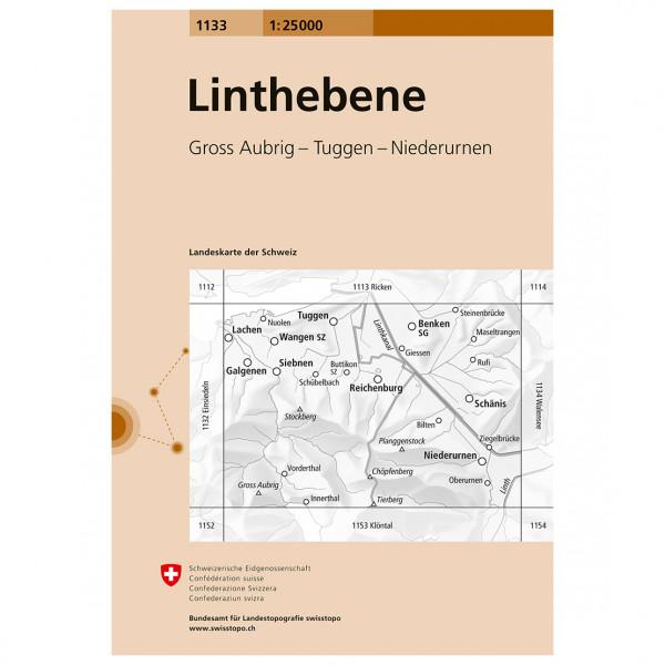 Swisstopo -  1133 Linthebene - Wandelkaarten