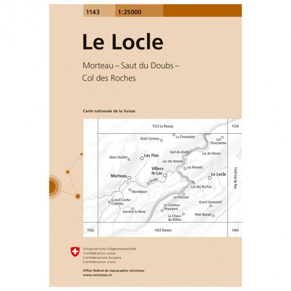 Swisstopo -  1143 Le Locle - Vandringskartor