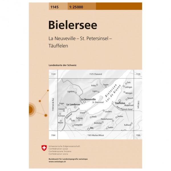 Swisstopo -  1145 Bielersee - Vaelluskartat