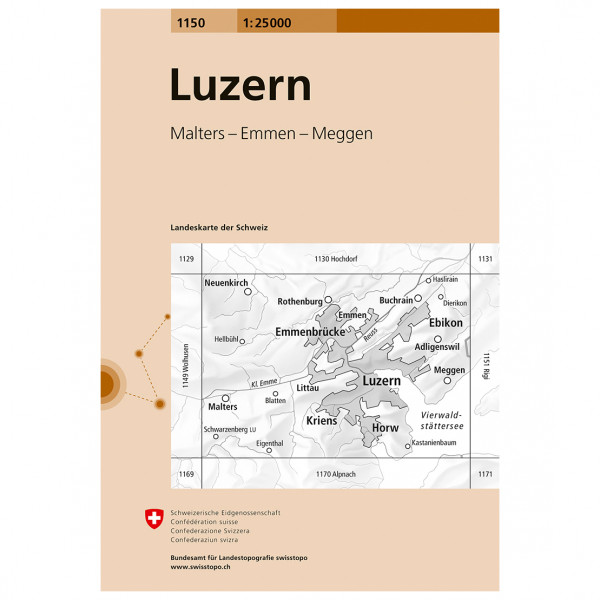 Swisstopo -  1150 Luzern - Vandringskartor
