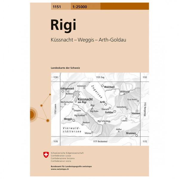 Swisstopo -  1151 Rigi - Vandrekort