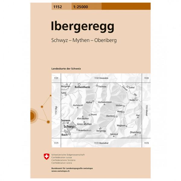 Swisstopo -  1152 Ibergeregg - Wandelkaart