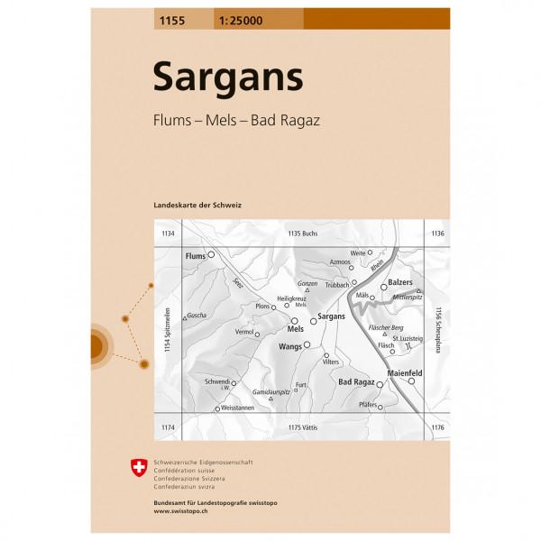 Swisstopo - 1155 Sargans - Wanderkarte