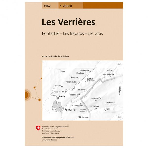 Swisstopo -  1162 Verrières - Vandringskartor