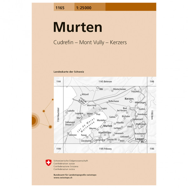 Swisstopo -  1165 Murten - Turkart