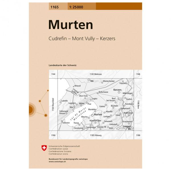Swisstopo -  1165 Murten - Vandringskartor